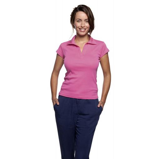 Рубашка поло женская PRETTY 220, абрикосовая фото