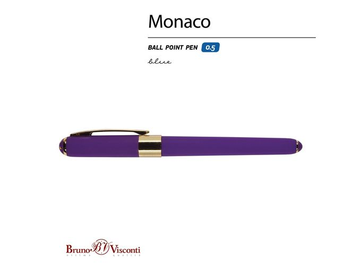 Ручка пластиковая шариковая Monaco, темно-фиолетовая фото