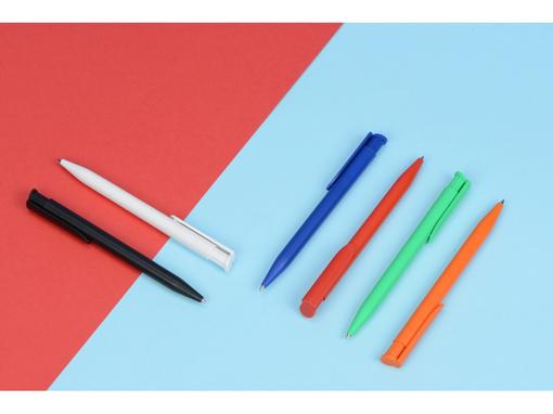 Ручка пластиковая шариковая Happy, оранжевая фото