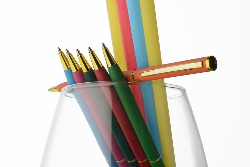 Ручка шариковая Hotel Gold, ver.2, матовая красная фото