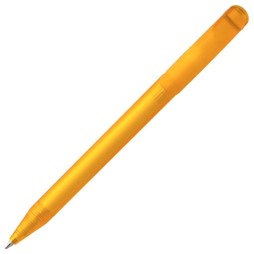 Ручка шариковая Prodir DS3 TFF Ring, желтая с серым фото
