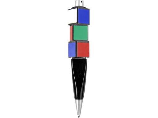 Ручка шариковая с вращающимися кубиками фото
