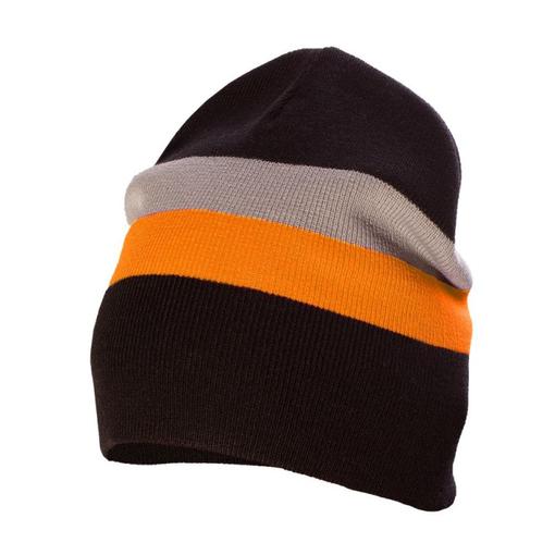 Шапка Bright Stripe, оранжевая фото