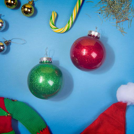 Шар новогодний FLICKER, зеленый фото