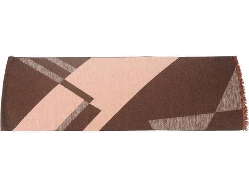 Шарф Парламент, коричневый, бежевый фото