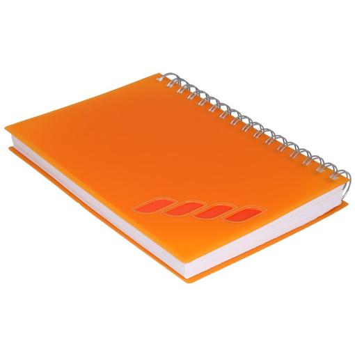 Ежедневник полудатированный LUX 5458 145x205 мм апельсин, оранжевый фото