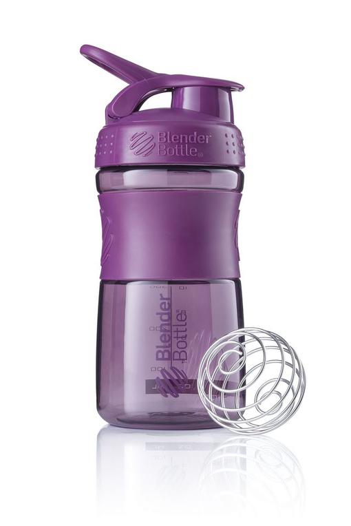 Спортивный шейкер SportMixer, фиолетовый (сливовый) фото
