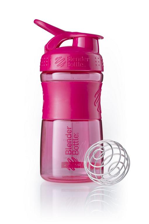 Спортивный шейкер SportMixer, розовый (малиновый) фото