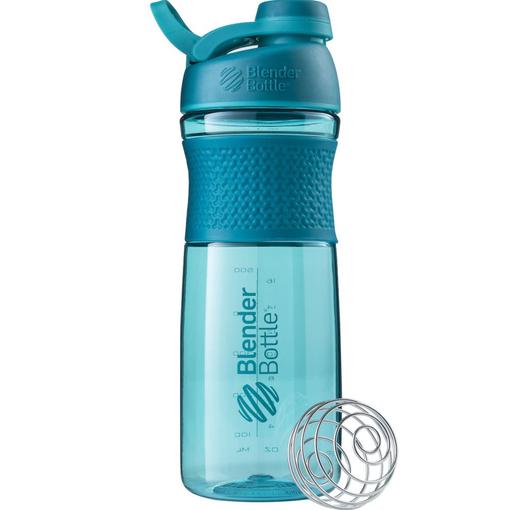 Спортивный шейкер SportMixer Twist Cap, 828 мл, голубой фото