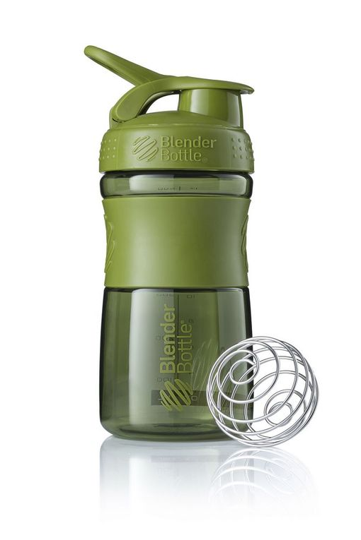 Спортивный шейкер SportMixer, зеленый (оливковый) фото