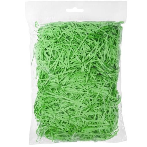 Стружка бумажная декоративная, 2 мм, 56 гр, зеленая фото