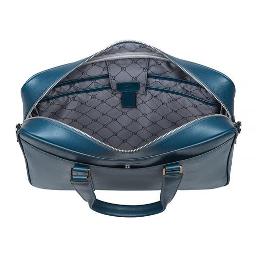 Сумка-портфель САФЬЯНО, 400х290х75, сине-зелёный фото