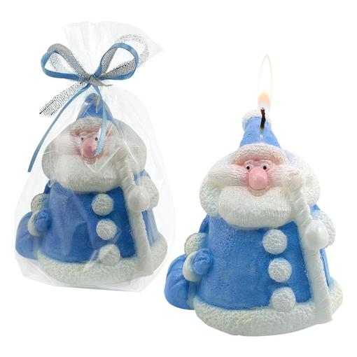 Свеча Дед мороз, синий фото