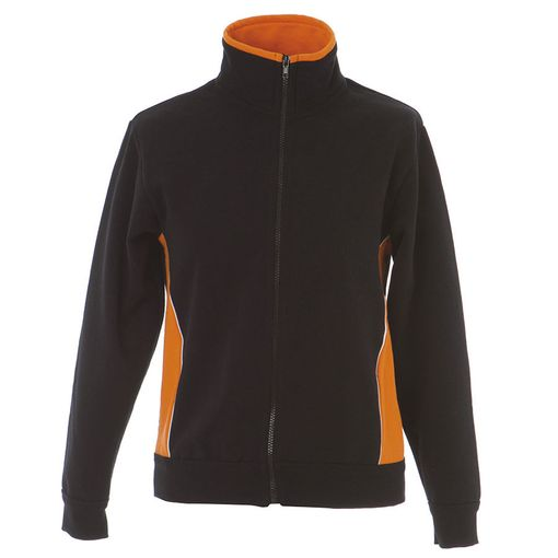 Толстовка мужская JRC CAGLIARI, Италия, черный/оранжевый фото