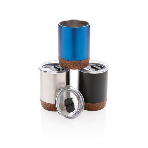 Термокружка вакуумная для кофе Cork 180 мл, синяя фото