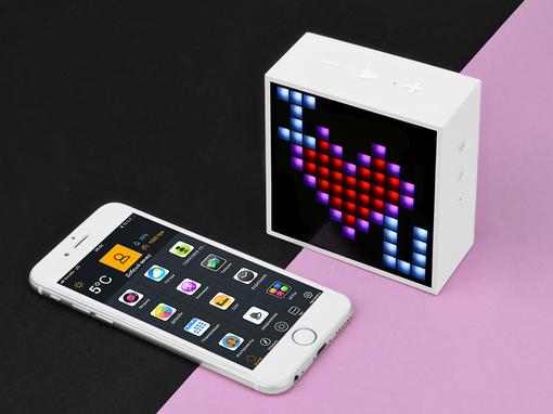 Беспроводная колонка Интерактивная Divoom Timebox Mini, белый фото