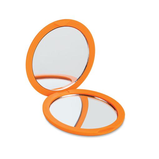 Зеркальце косметическое, оранжевый фото