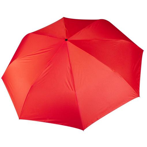Зонт складной автомат 3 сложения, красный фото