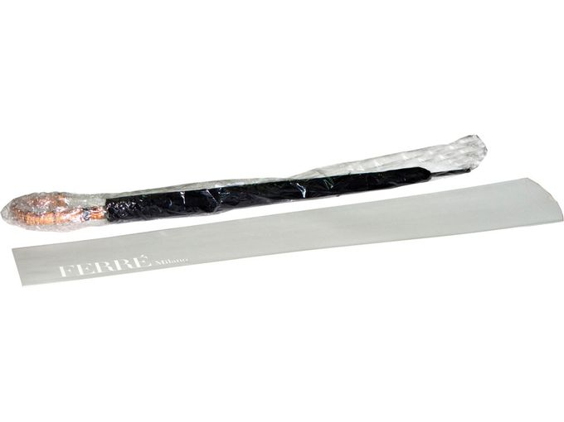 Зонт трость полуавтомат с ручкой в форме бамбука, черный фото
