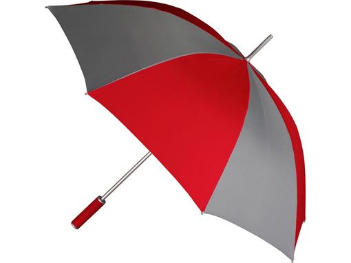 Зонт-трость Форсайт, красно-серый фото
