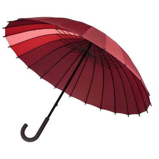 Зонт трость механический Спектр, красный/ бордовый фото