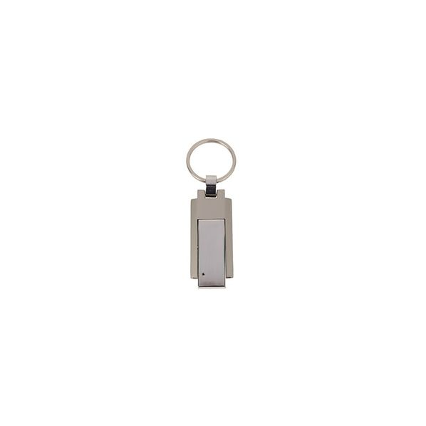 Флеш-карта USB 2.0 на 4 Гб c брелоком, серебристый
