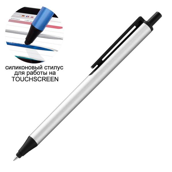 Ручка шариковая со стилусом FLUTE TOUCH, серый