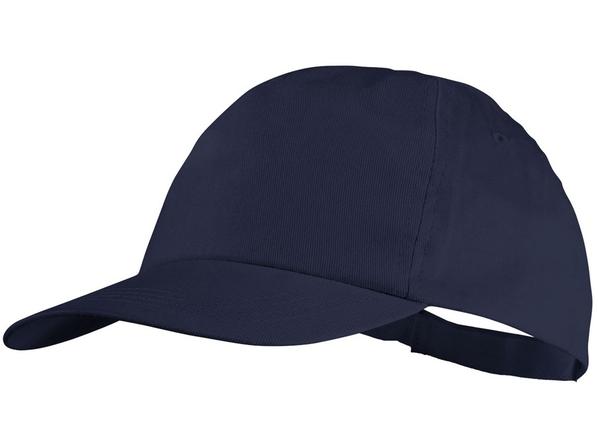 Бейсболка Basic 5 клиньев с застежкой на липучке, темно-синий