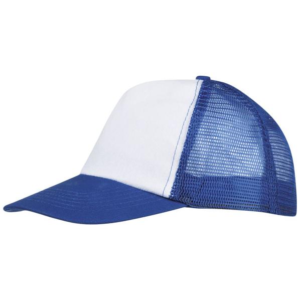 Бейсболка BULL, белая с синим