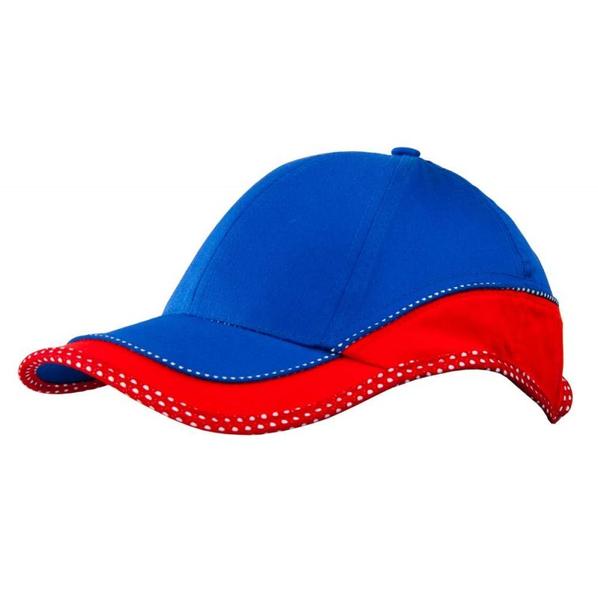 Бейсболка UNIT GOOD VIEW, красная с синим