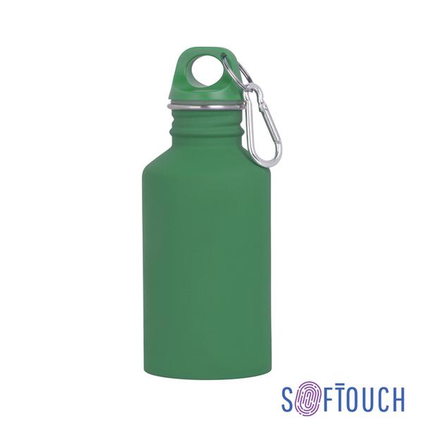 """Бутылка спортивная """"Финиш"""", покрытие soft touch, 0.5 л, зеленая"""