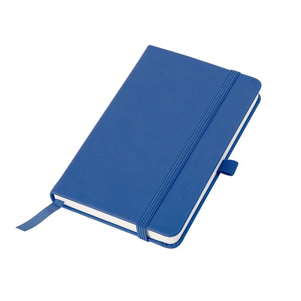 Бизнес-блокнот в клетку на резинке thINKme Justy А6, 192 стр., синий