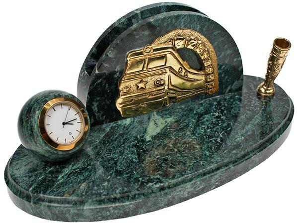Часы Железнодорожные, золотой, зеленый