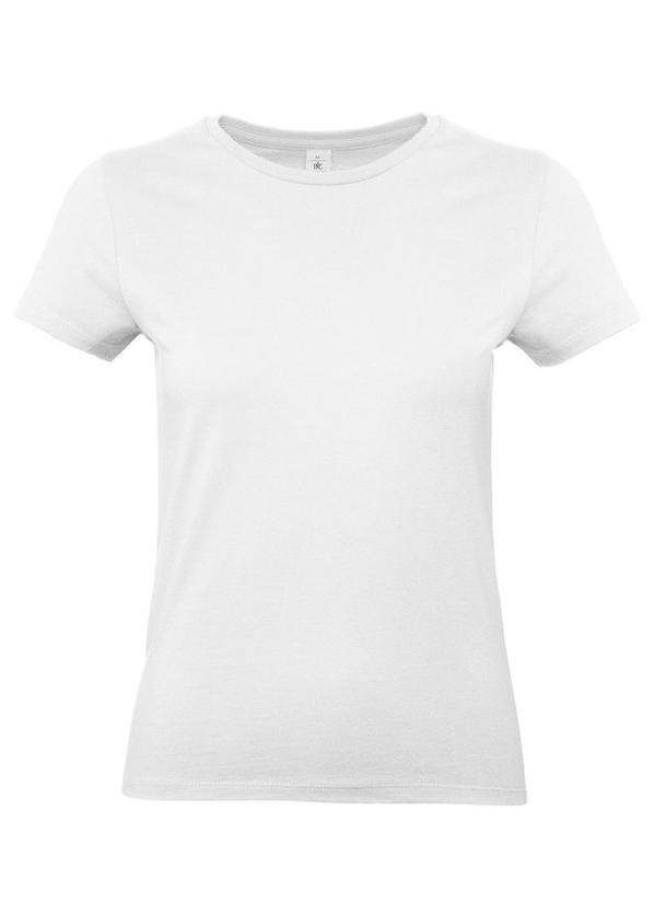 Футболка женская B&C E190, белая
