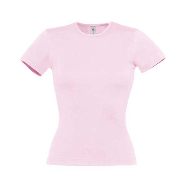 Футболка женская B&C Taste, розовая