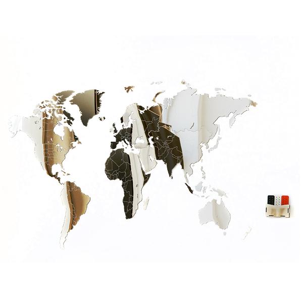 Карта-пазл зеркальная wall decoration exclusive, 130х78 см