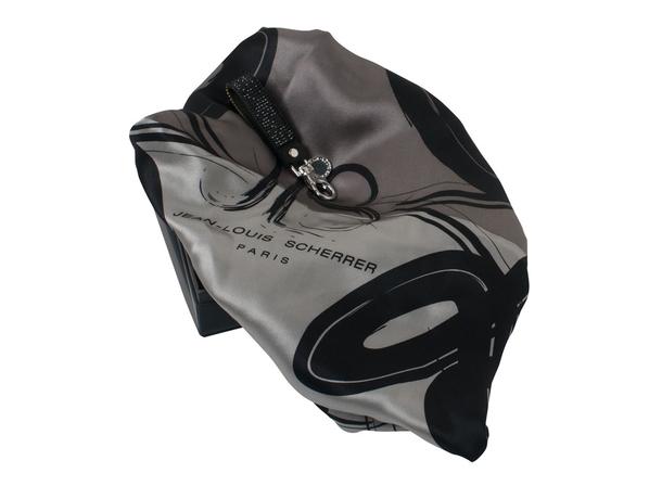 Набор: брелок, шелковый платок, серый