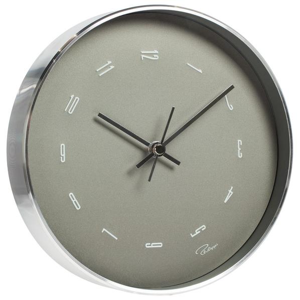 Настенные часы Philippi Tempus Fugit, серебристые
