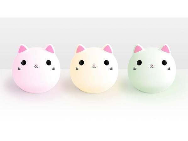 Ночник Rombica LED Kitty, белый