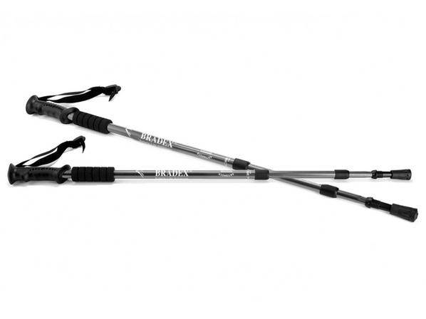 Палки телескопические для скандинавской ходьбы Nordic Style, черные