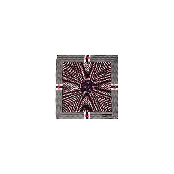 Платок шелковый Charles Jourdan Dream, серый, розовый