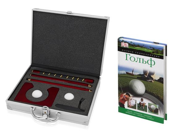 Подарочный набор Багс: офисный набор для гольфа, книга, кейс серебристый
