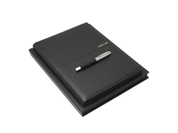 Подарочный набор Holt: папка A4, ручка роллер, чёрный