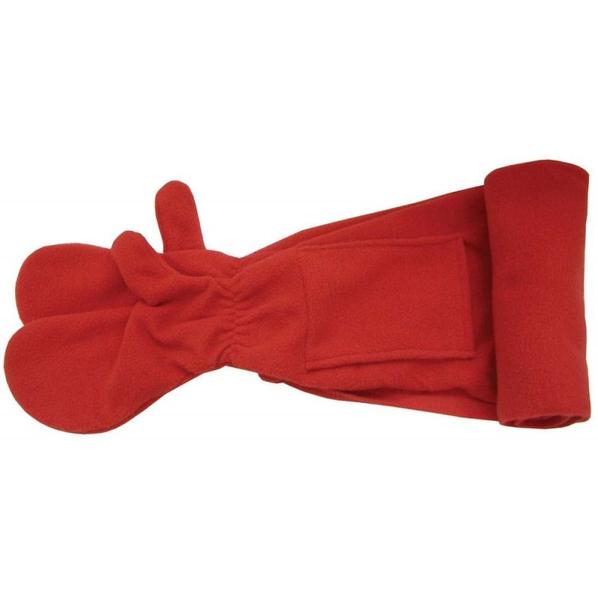 Шарф с варежками UNIT FREE, красный