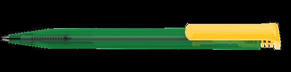 Ручка шариковая пластиковая Senator Super Hit mix&match, зеленая / желтая