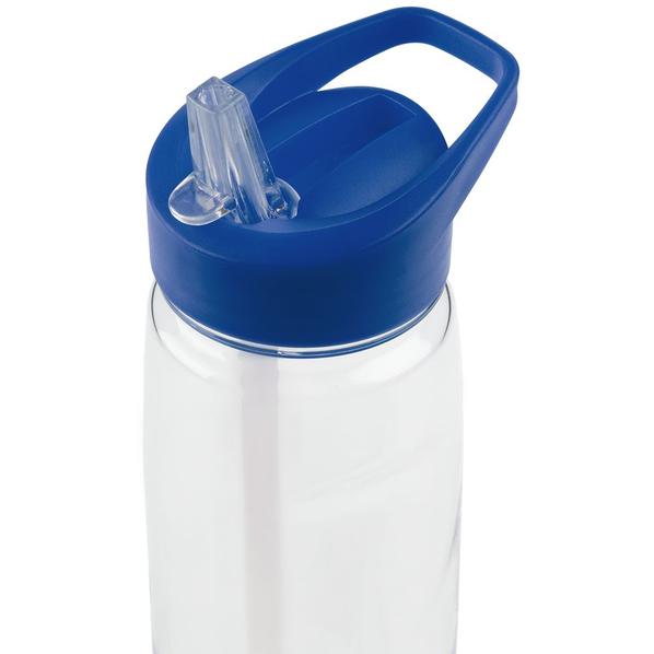 Спортивная бутылка Start, прозрачная с синей крышкой