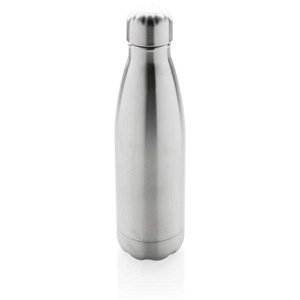 Вакуумная бутылка из нержавеющей стали, серебряная