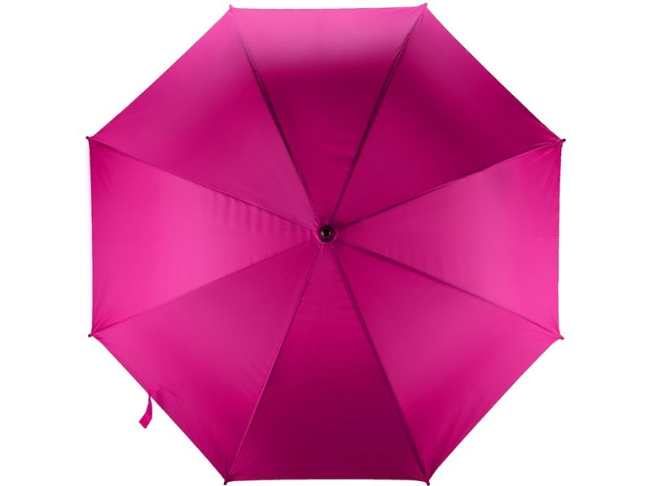 Зонт трость полуавтомат Радуга, фуксия