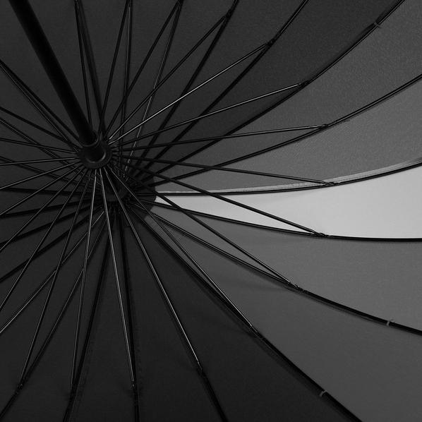 Зонт трость механический Спектр,  серый / черный