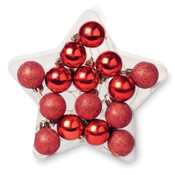Звезда с шариками, красный